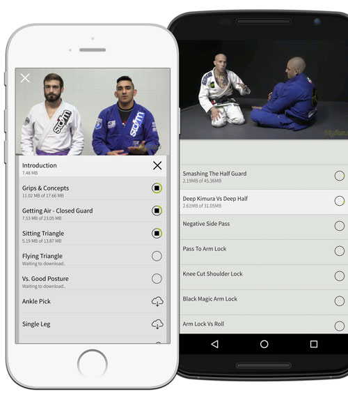 No Internet on the mat? Save videos for offline access.